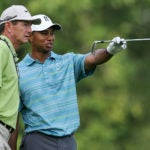 Hank Haney and Tiger Woods in 2006.