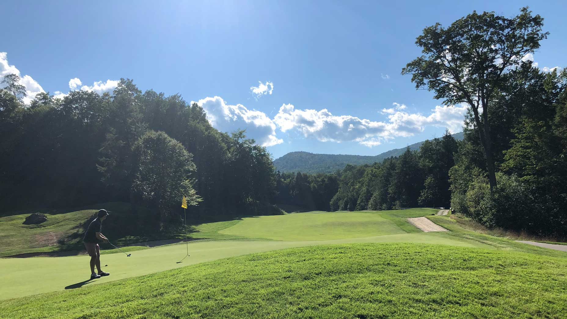 A below-average golfer at Green Mountain National Golf Course.
