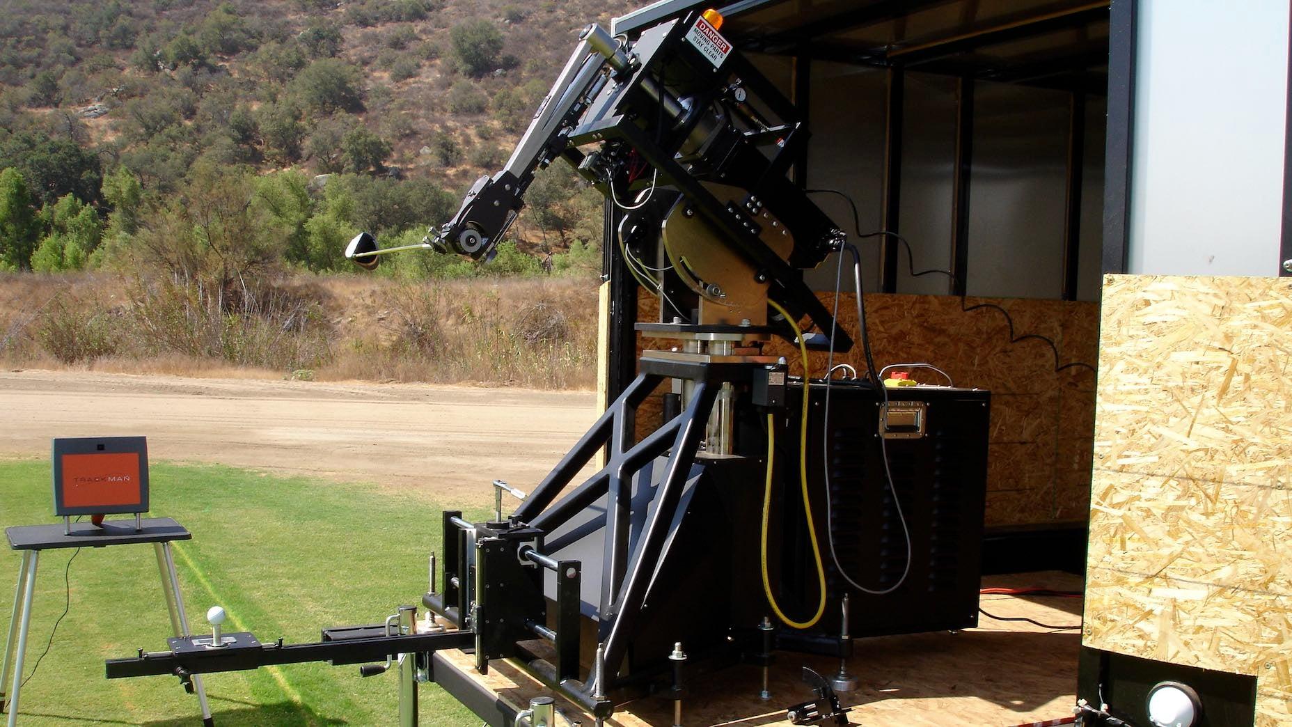 golf robot testing
