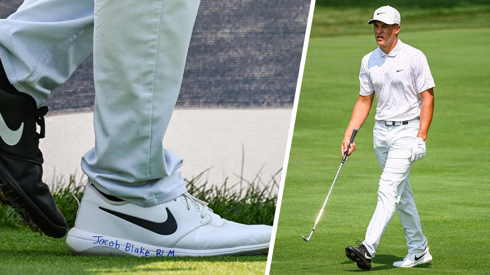 Cameron Champ explains 'Jacob Blake BLM' inscription on golf shoes