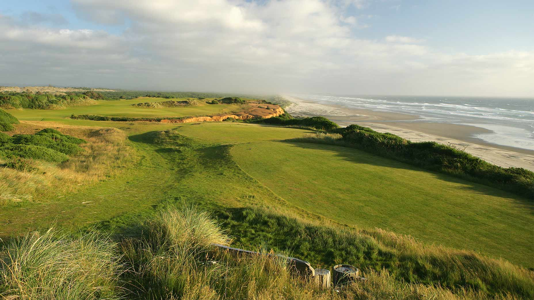 The par-4 16th at Bandon Dunes.