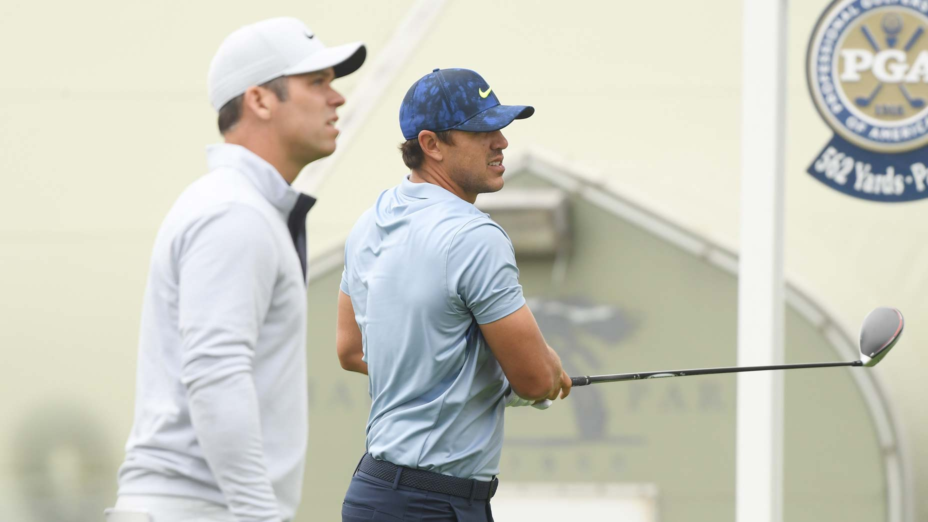 Pro golfers Brooks Koepka and Paul Casey