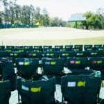 empty patron chairs at the masters