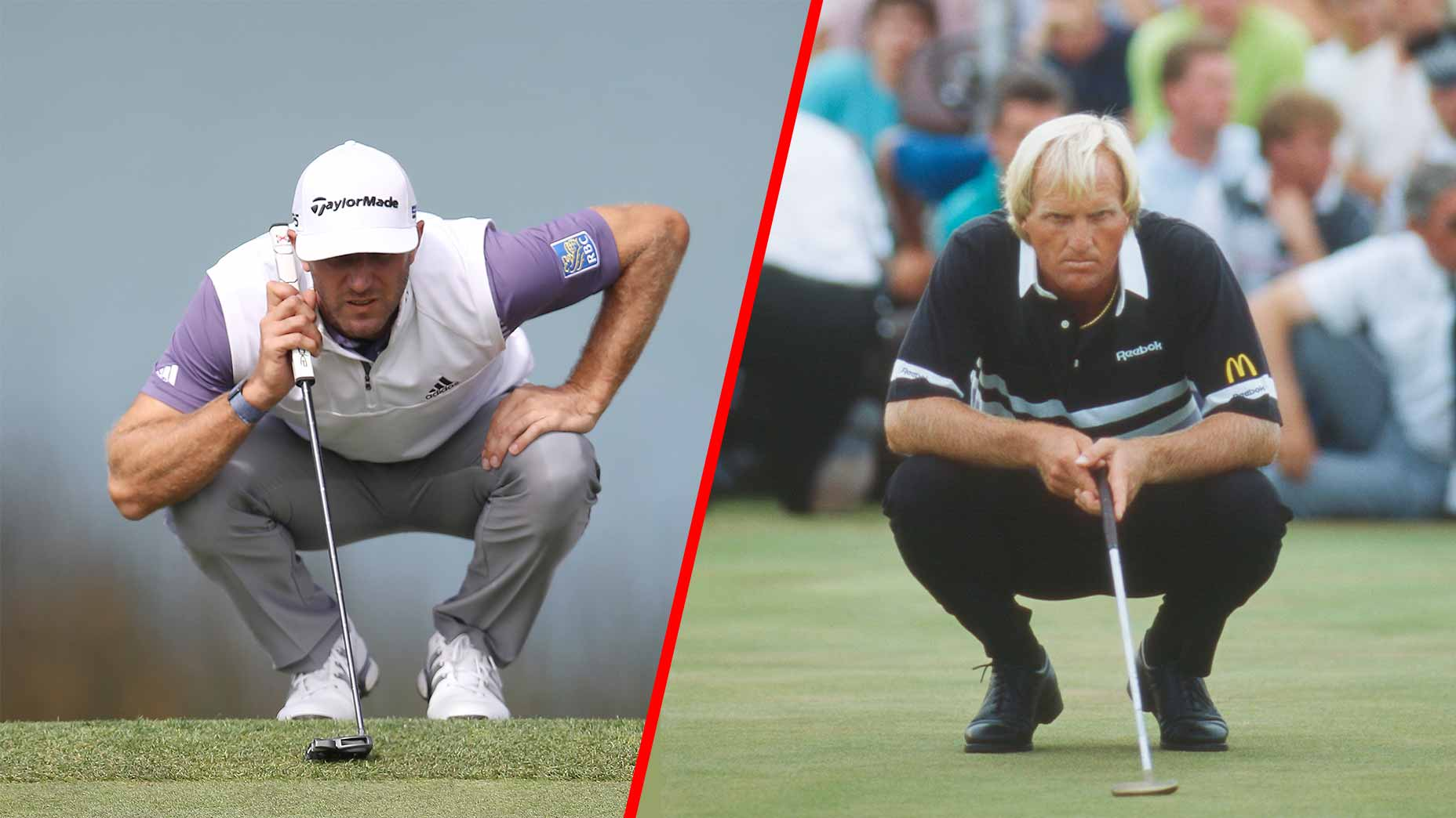 dustin johnson greg norman read putt