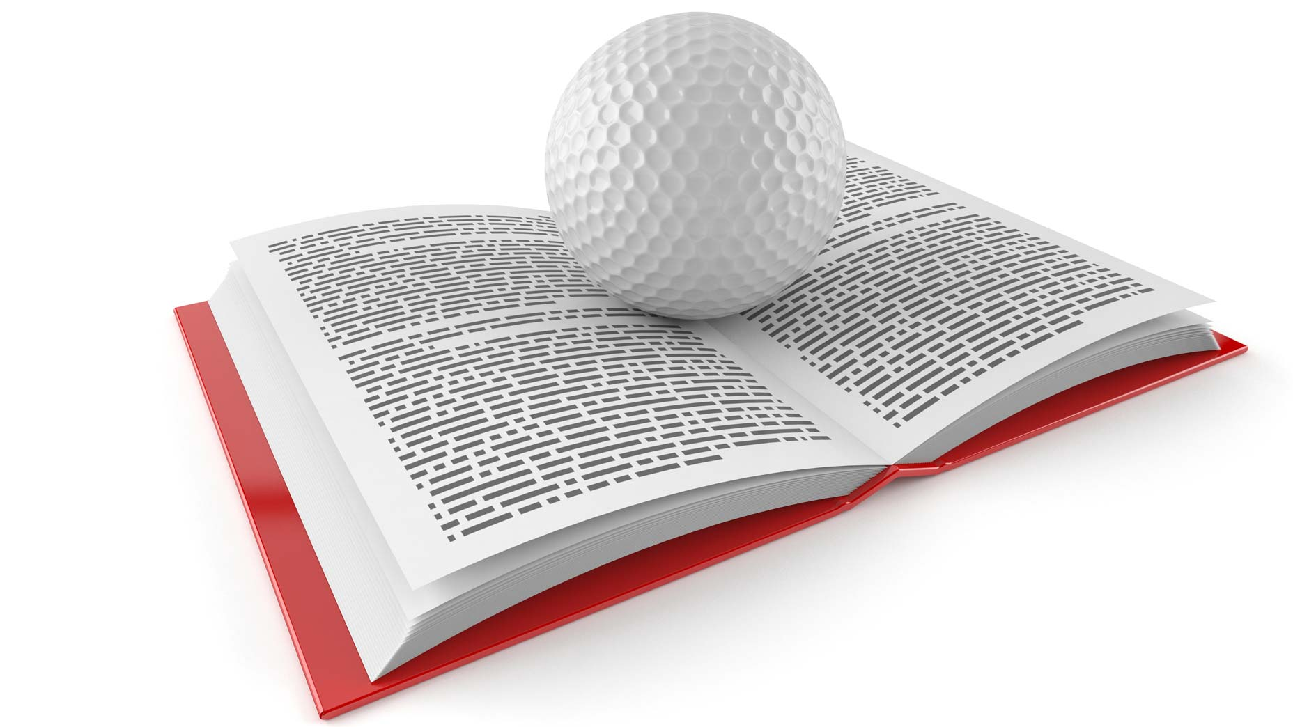 golf ball on a book