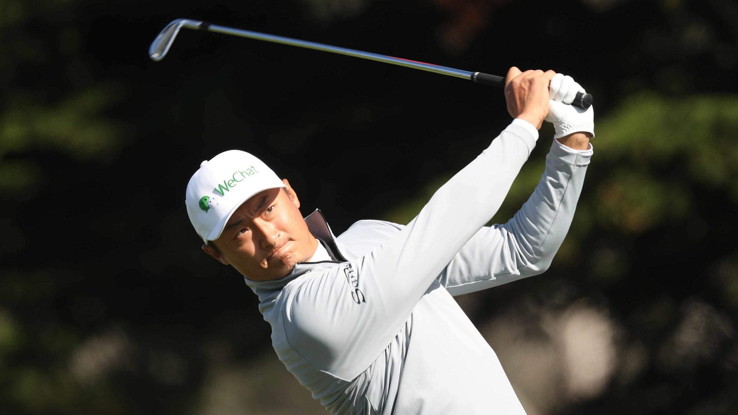 Haotong Li in the second round of the PGA Championship