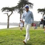 Jason Day walks at the PGA Championship