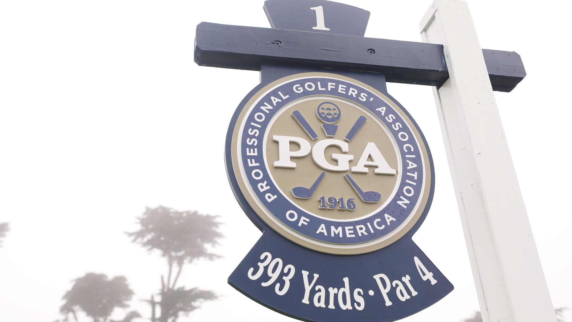 PGA Championship hole sign at TPC Hardin Park