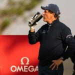 phil mickelson sips coffee