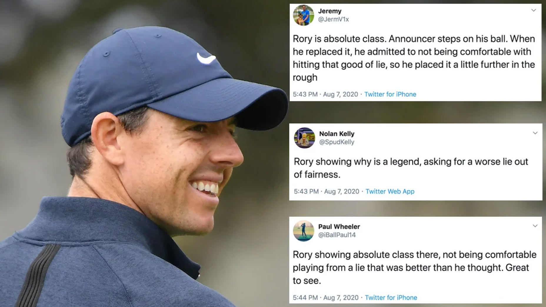 Rory McIlroy at the 2020 PGA.