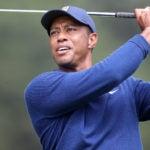 Tiger Woods hit an approach