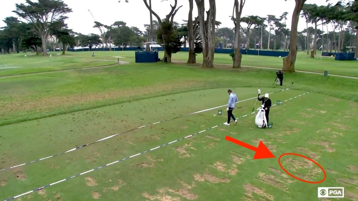 Reminder: This is the best way to take divots on the driving range