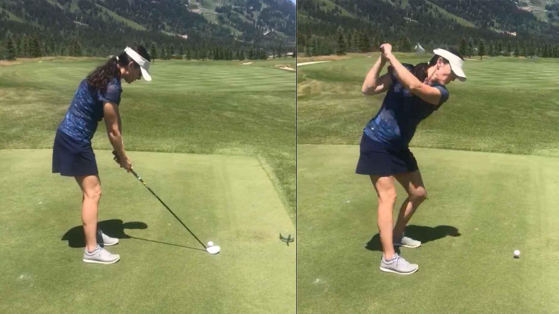 women's golf posture
