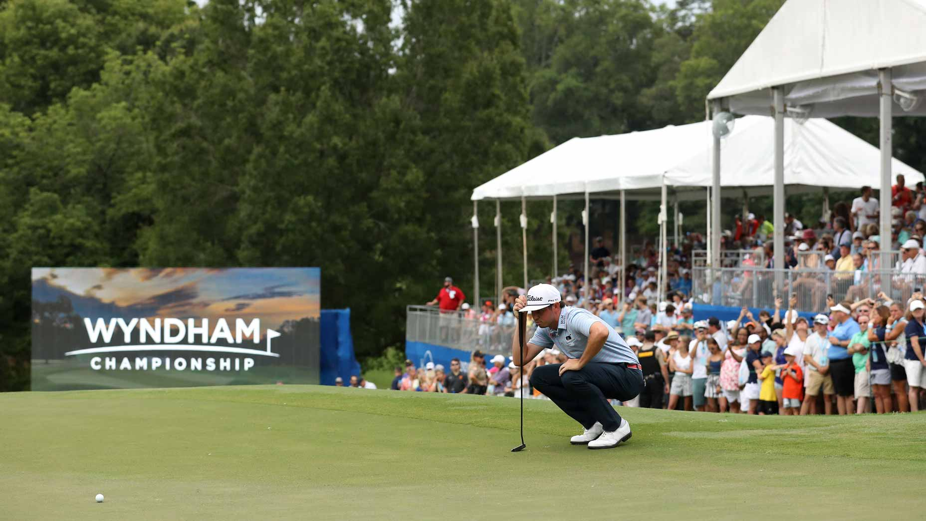 Pro golfer J.T. Poston at 2019 Wyndham Championship