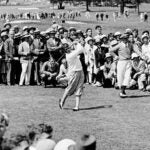 Babe Ruth watches Bobby Jones at Winged Foot