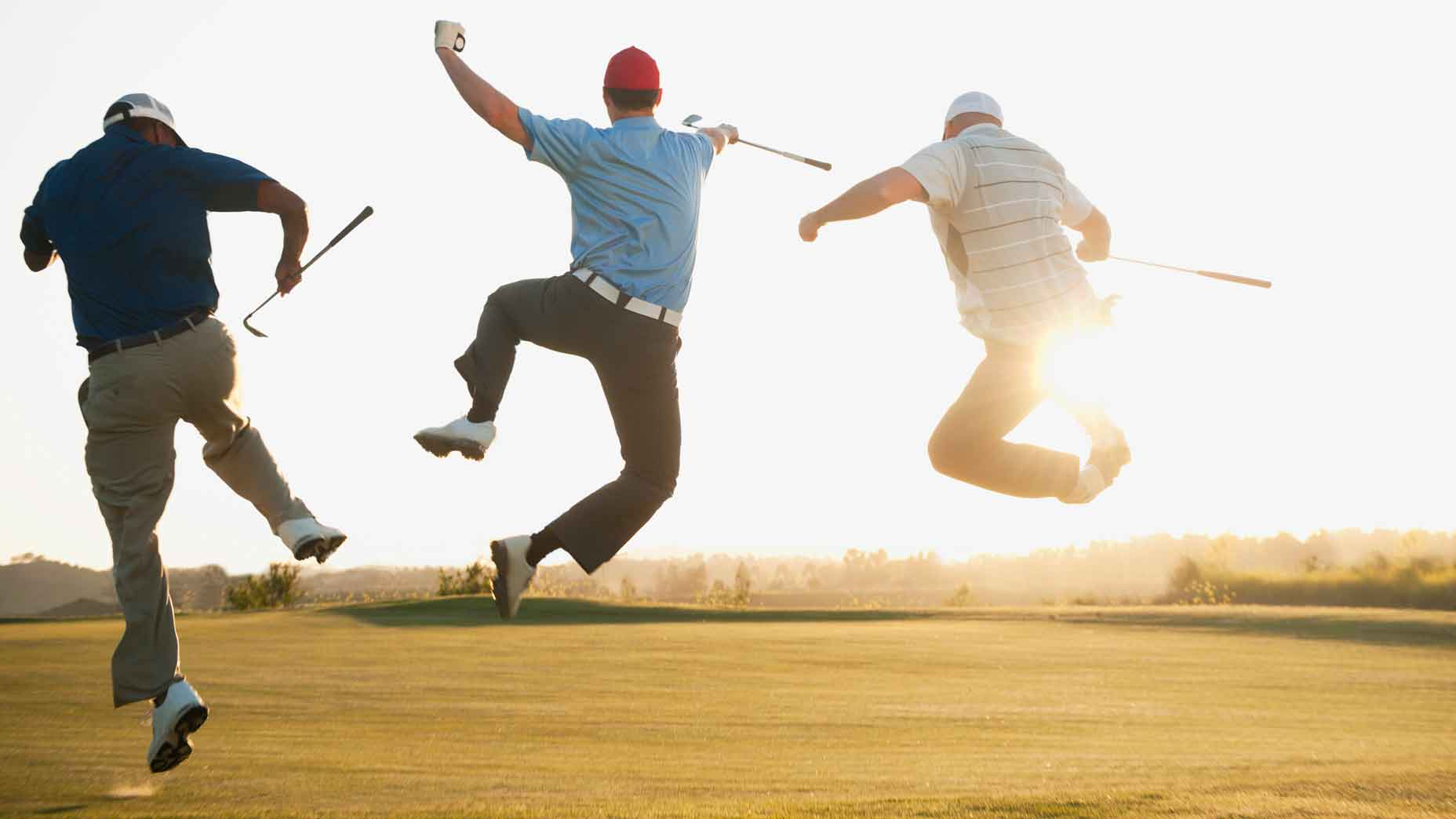 Happy golfers