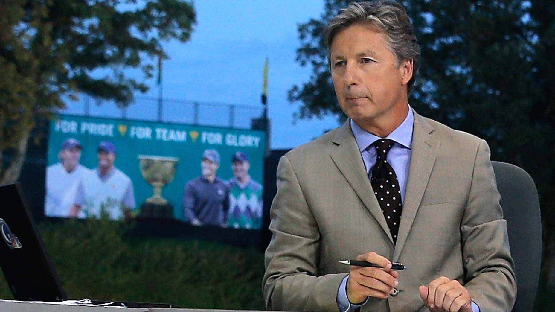 brandel chamblee on set