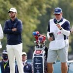 bryson dechambeau and matthew wolff look on winged foot