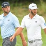 Pro golfers Jon Rahm and Dustin Johnson