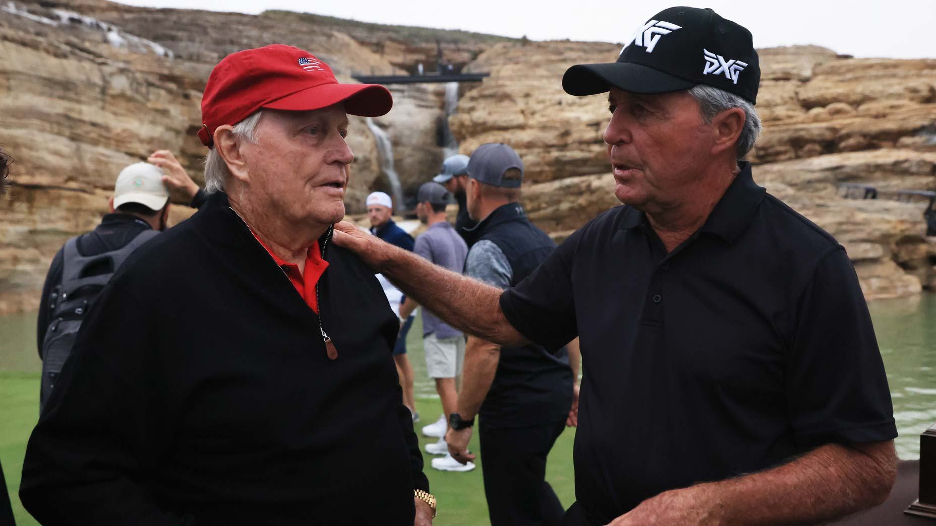 jack nicklaus and gary player talk