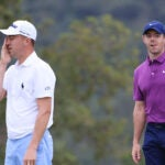 rory mcilroy justin thomas look on
