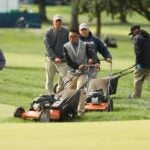 Maintenance crew at Winged Foot