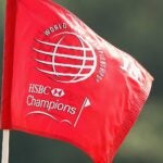 Flag at WGC-HSBC Champions golf tournament