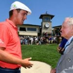 bryson dechambeau talks to jack nicklaus