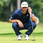 dustin johnson reads putt