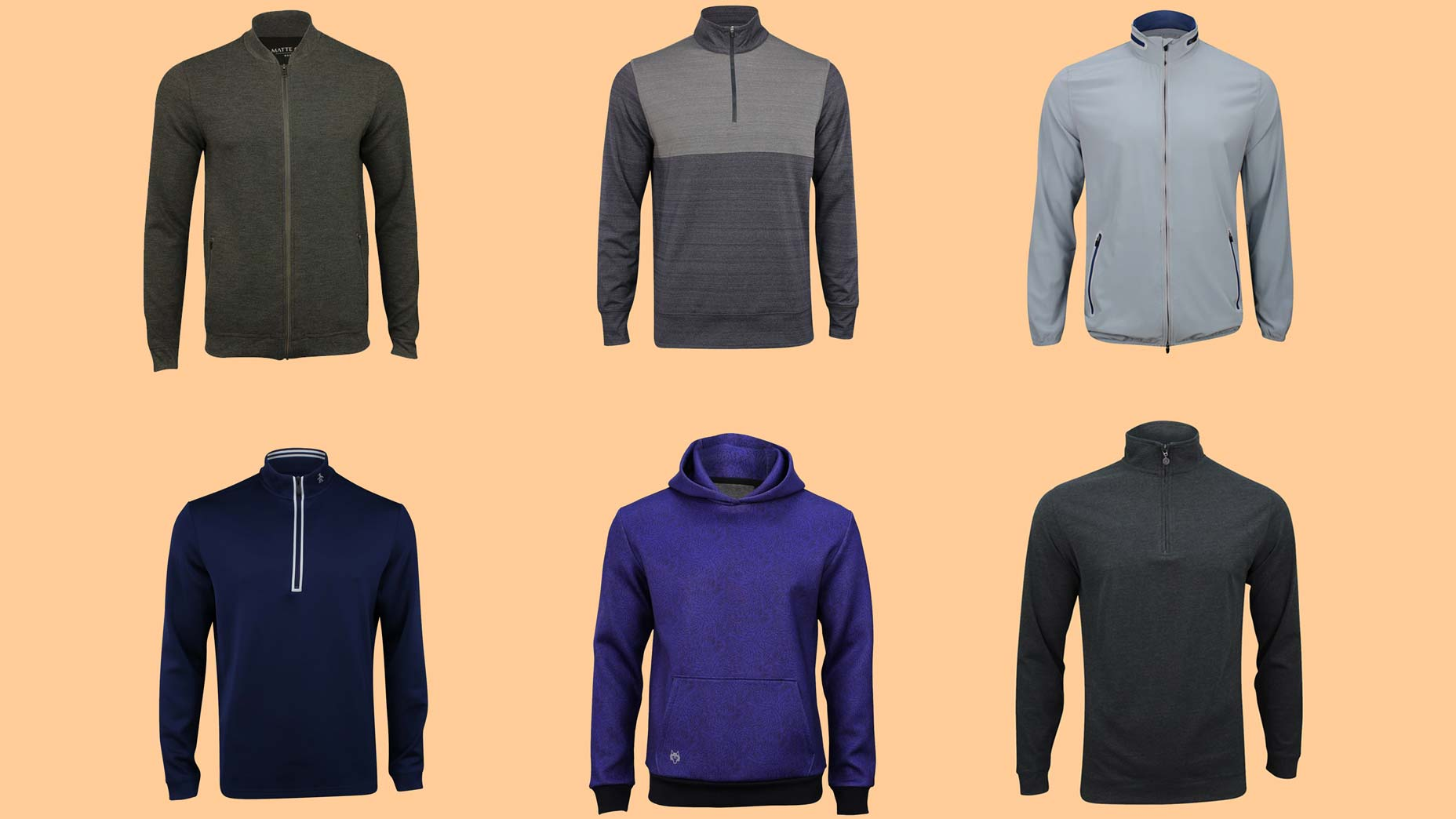 Golf pullovers and jacket