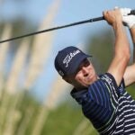 justin thomas swings iron cj cup