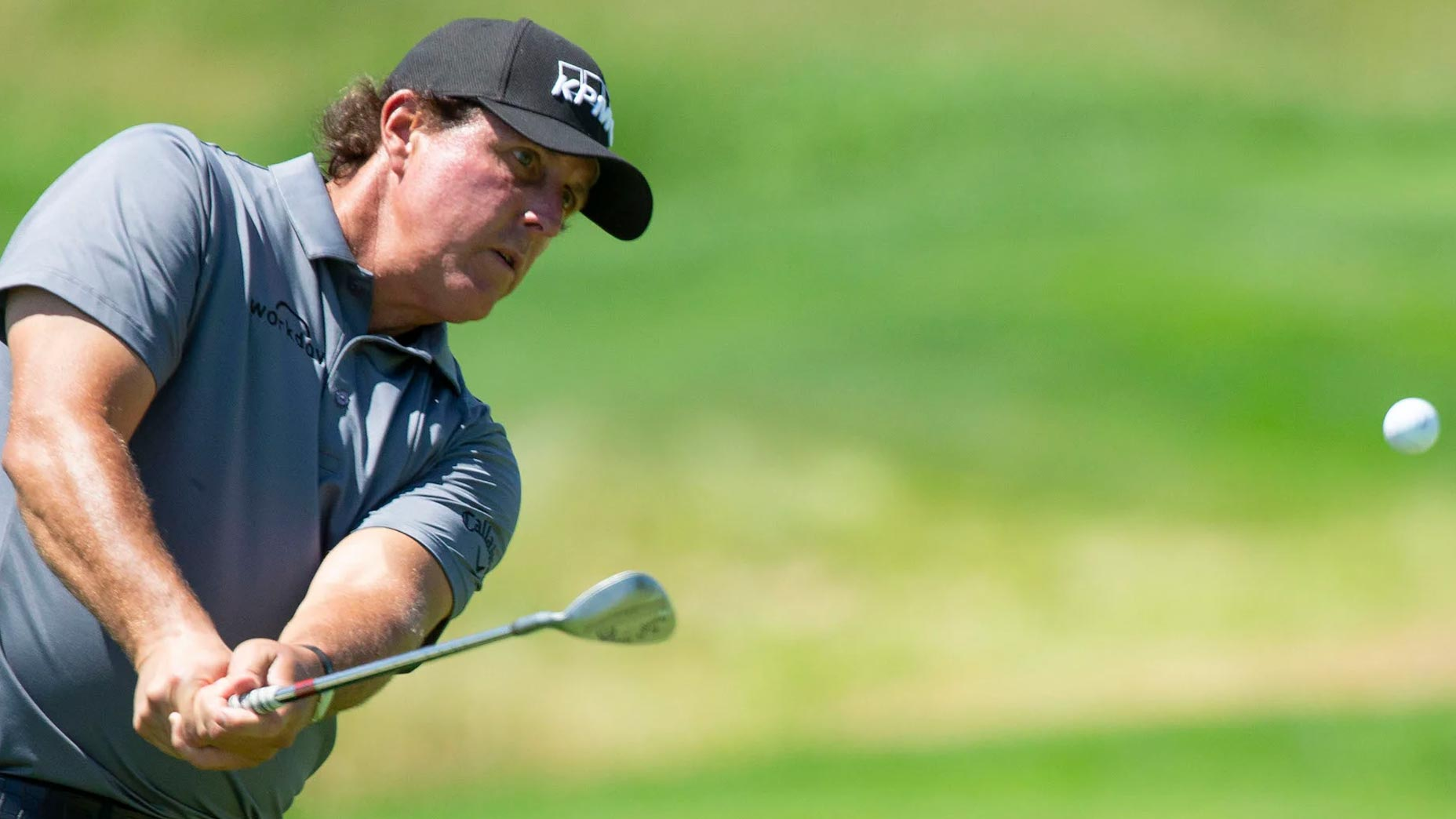 Phil Mickelson hits wedge shot