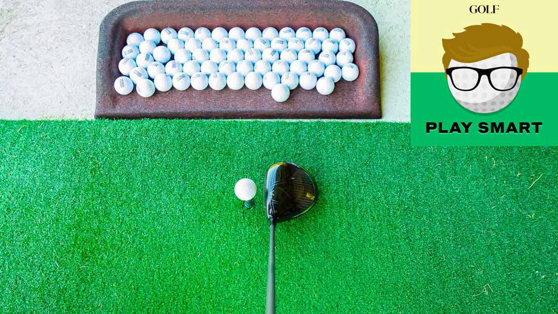 The science of practicing golf off a driving-range mat