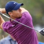 rory mcilroy swings driver paynes valley