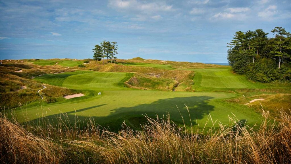 The 18th hole at Whistling Straits.