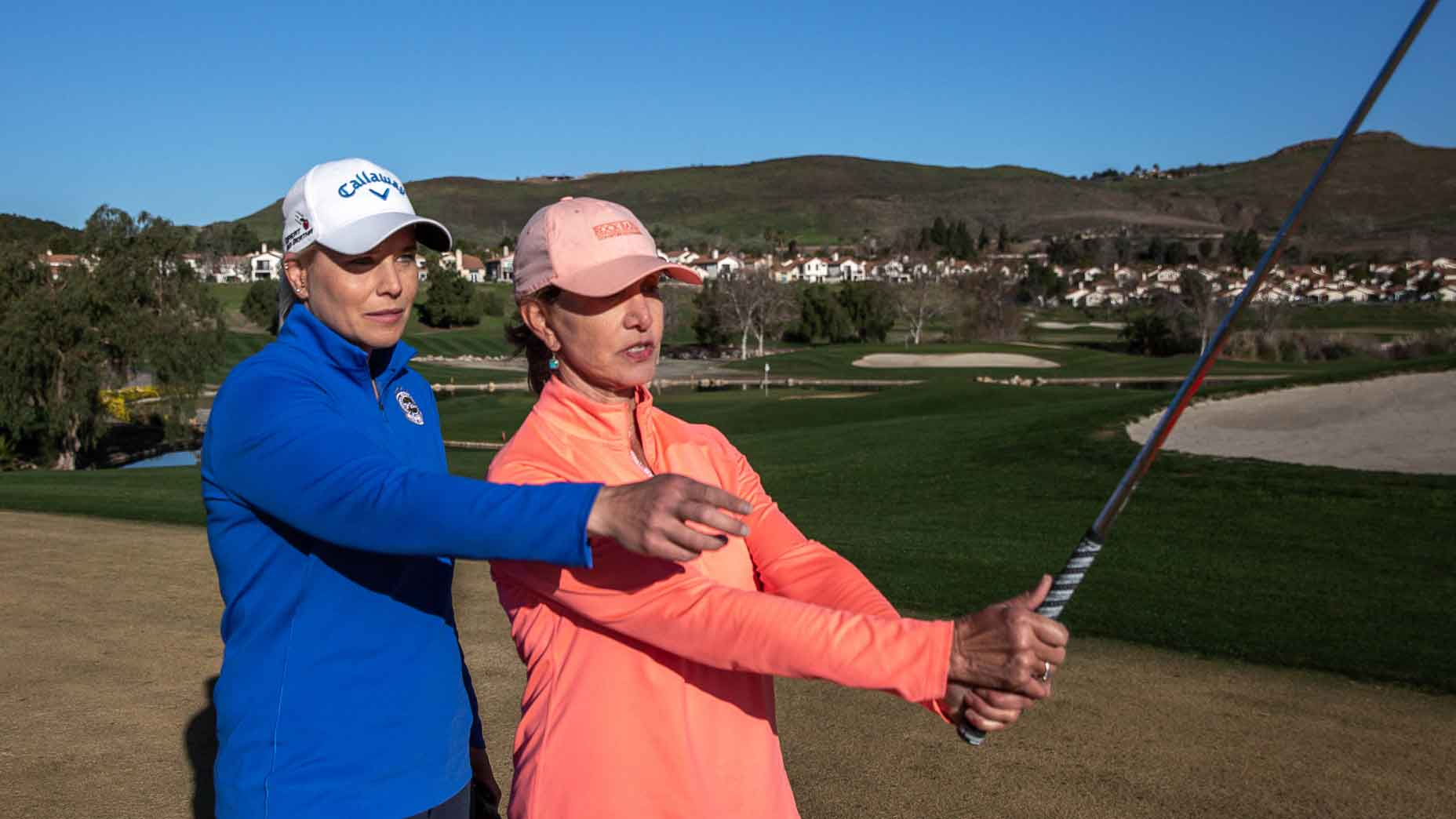 Women's golf tips: Do this 1 thing to rid your body of tension before hitting a shot