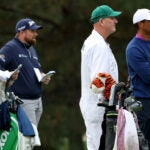 "Brian ""Bo"" Martin, Shane Lowry, Joe LaCava and Tiger Woods"