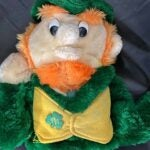 A leprechaun golf headcover