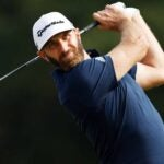 dustin johnson swings driver houston open