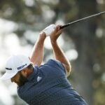 dustin johnson hits driver at masters