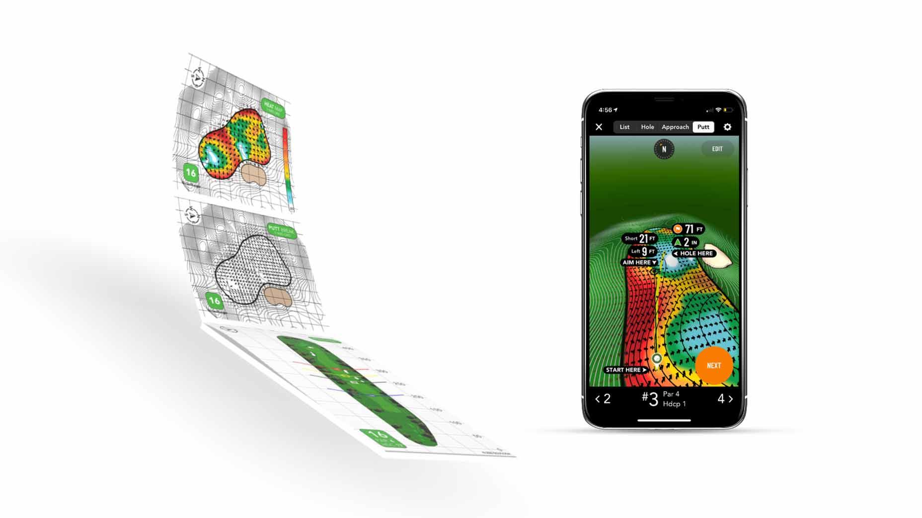 GolfLogix green reading app