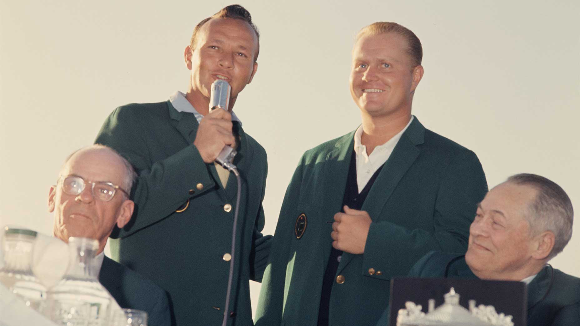 Jack Nicklaus and Arnold Palmer at the 1963 Masters.