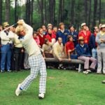 Jack Nicklaus tees off at the 1972 Masters.
