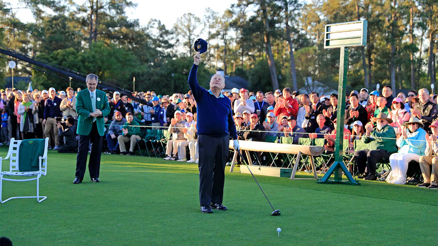 Jack Nicklaus at the 2017 Masters.