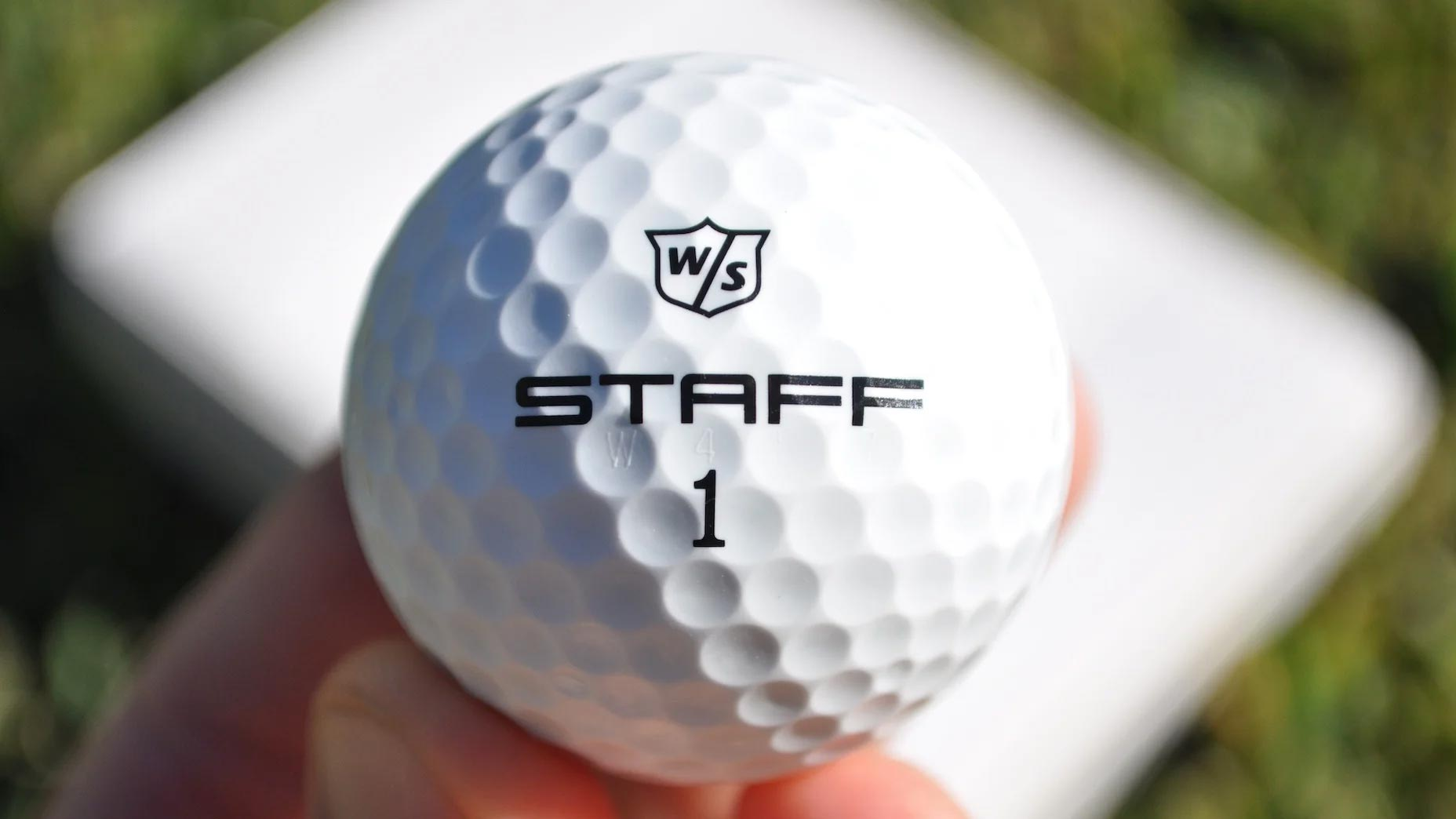 wilson staff model r golf ball