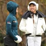 Lydia Ko and Yealimi Noh were dressed for the cold during the U.S. Women's Open.