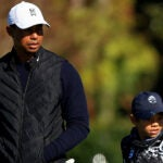 Tiger Woods and Charlie Woods