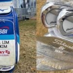 A Lim Kim's golf clubs