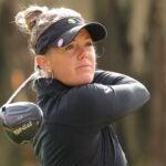 Amy Olson swings at the U.S. Women's Open.