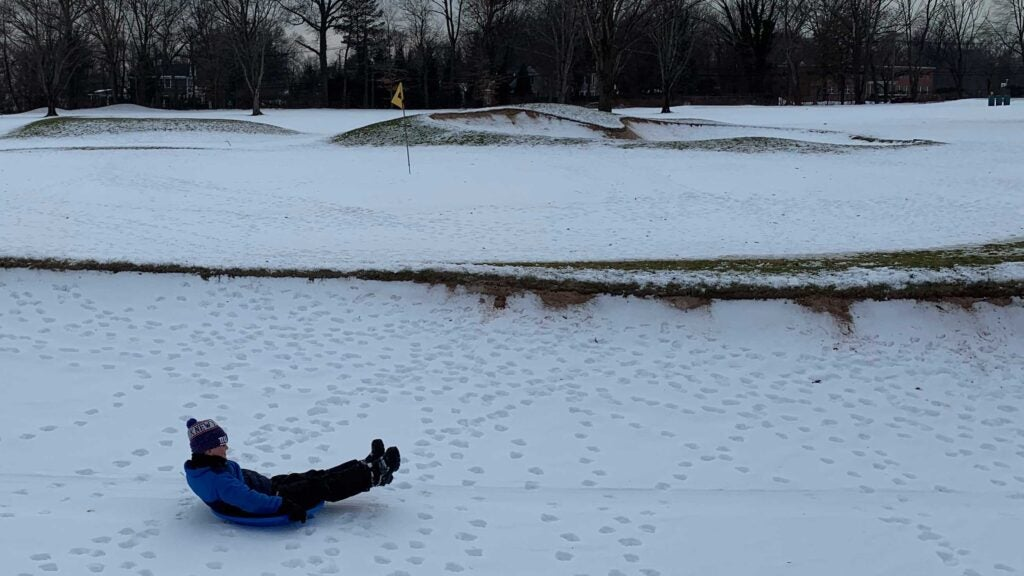 golf course sledding